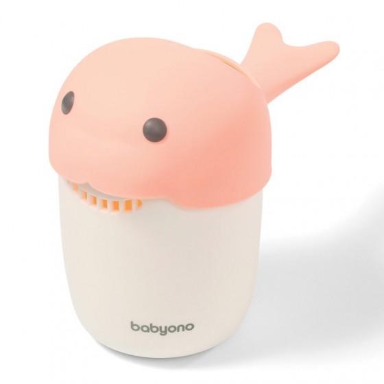 BabyOno Tumbler head WHALE - pink