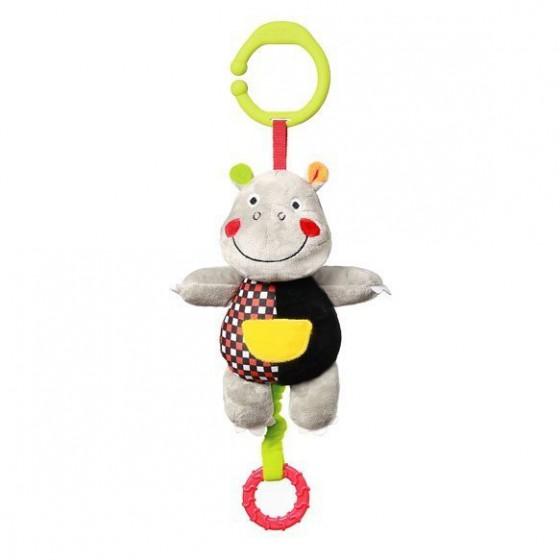 Babyono Zabawka dla dzieci z pozytywką HIPPO ALBERT C-MORE COLLECTION