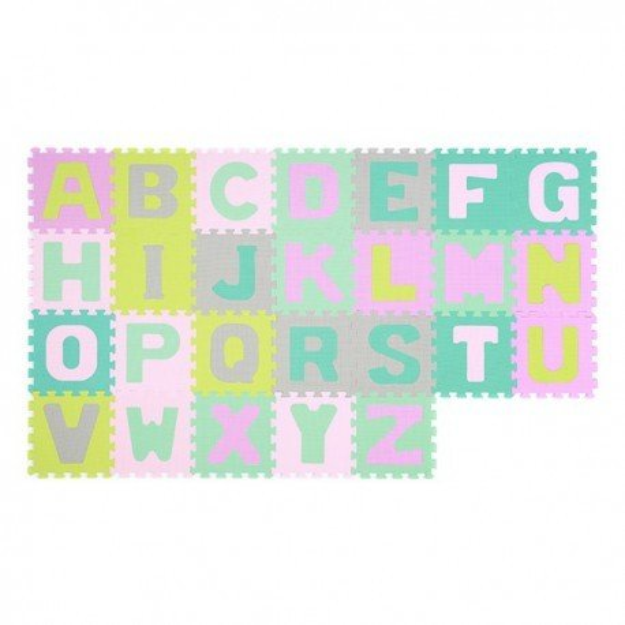 Babyono Puzzle piankowe 26szt alfabet - pastelowe