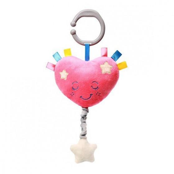 Babyono Zabawka dla dzieci z pozytywką LULLABY HEART