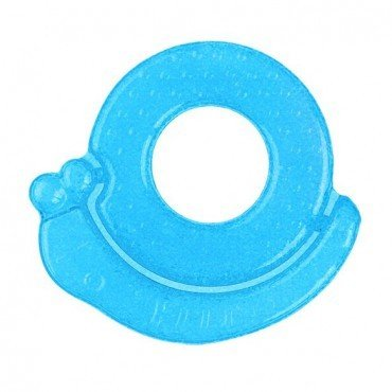 Babyono Żelowy gryzak dla niemowląt ślimak - niebieski
