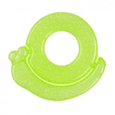 BabyOno Gel teether for babies snail - green