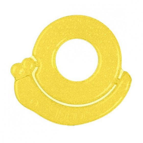 Babyono Żelowy gryzak dla niemowląt ślimak - żółty