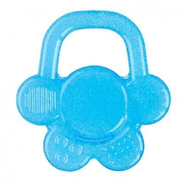 BabyOno Gel teether for babies flower - blue
