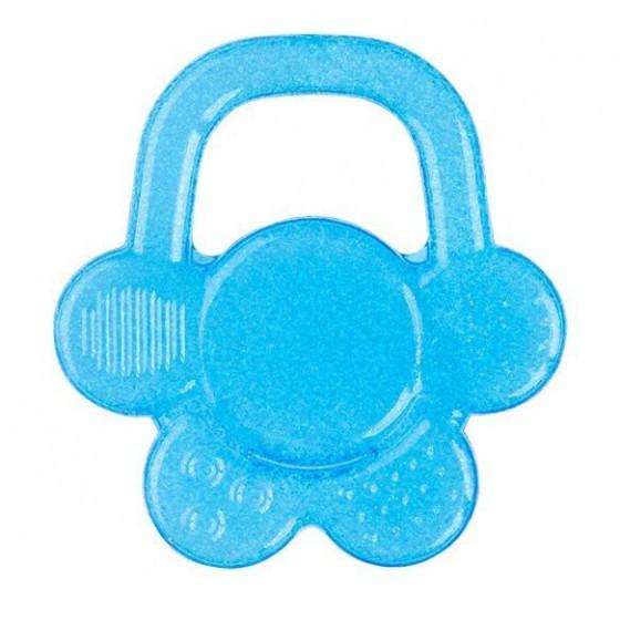 Babyono Żelowy gryzak dla niemowląt kwiatek - niebieski