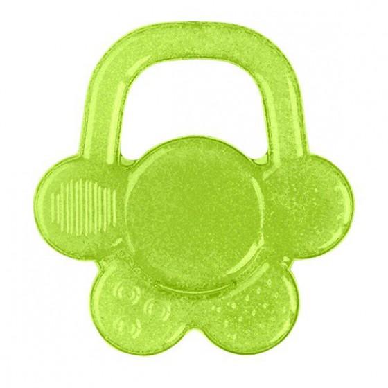 Babyono Żelowy gryzak dla niemowląt kwiatek - zielony