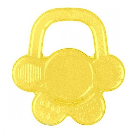 Babyono Żelowy gryzak dla niemowląt kwiatek - żółty
