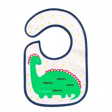 BabyOno bib terry JEM and grow - dinosaur