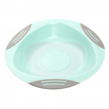 BabyOno Plate for children and babies with suction cup - mint
