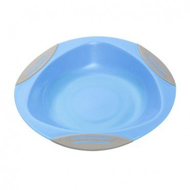 BabyOno Plate for children and babies with suction cup - blue
