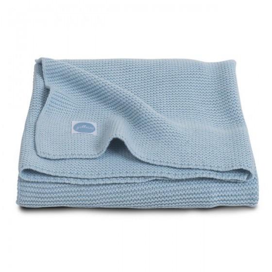 Basic knit blanket Jollein Ice Blue 75x100cm