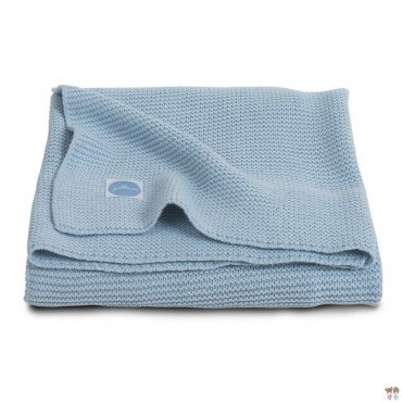 Jollein Koc Basic knit Ice blue 75x100cm