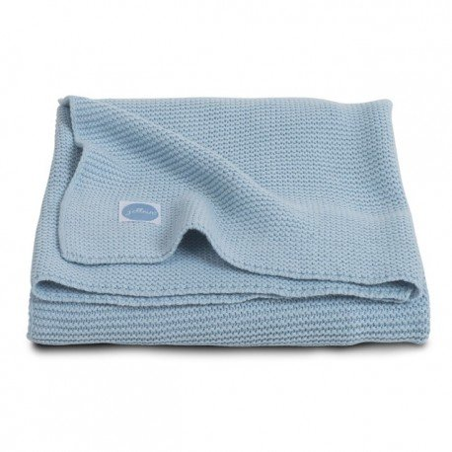 Jollein Koc Basic knit Ice blue 75x100cm