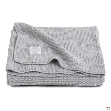 Jollein Koc Basic knit Light grey 75x100cm