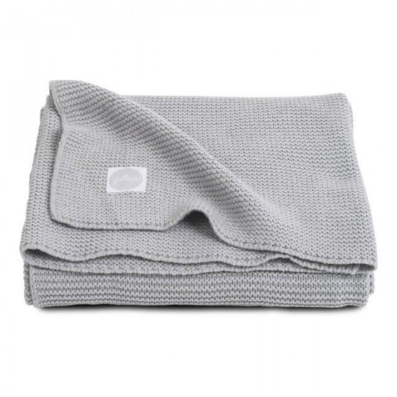 Jollein Woven Blanket Basic Light gray knit 75x100cm