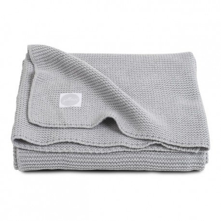 Jollein Koc Basic knit Light grey 75x100cm