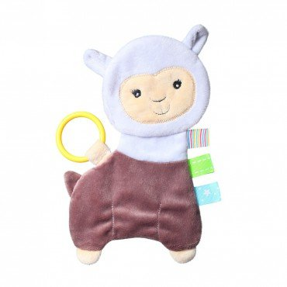 Babyono Przytulanka dla niemowląt FLAT ALPACA LILIAN