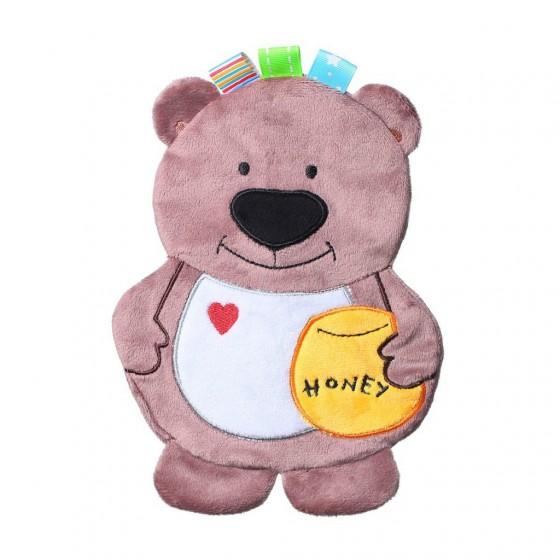 Babyono Przytulanka dla niemowląt FLAT BEAR TODD