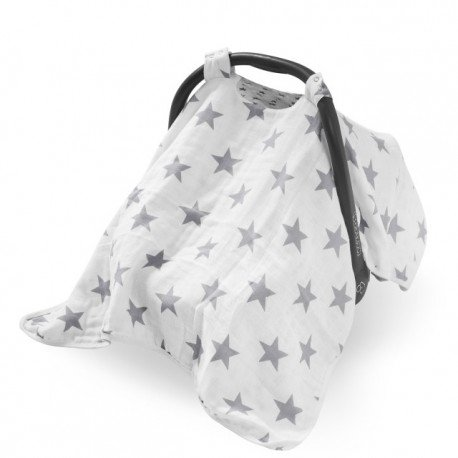 Jollein muslin protector from the sun Little Star Gray