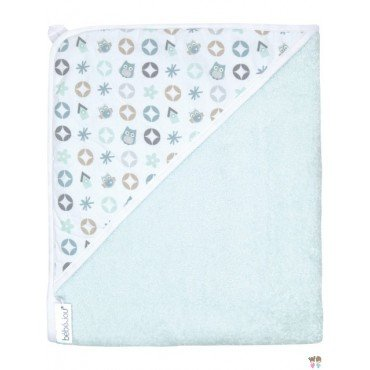 Bebe-Jou towel with cap Mint armyworms