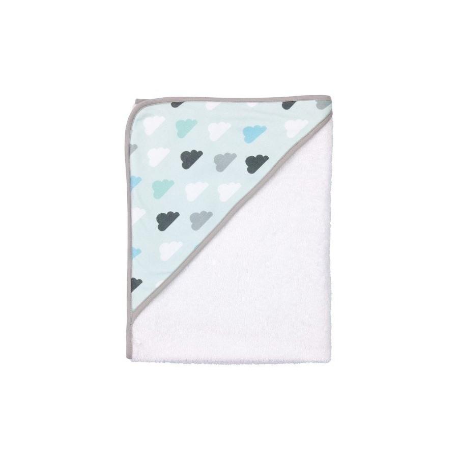 Bebe-Jou Mięciutki Ręcznik z kapturkiem Pastelowe chmurki