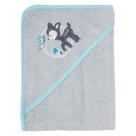Bebe-Jou Miękki Ręcznik z Kapturkiem Forest Friends