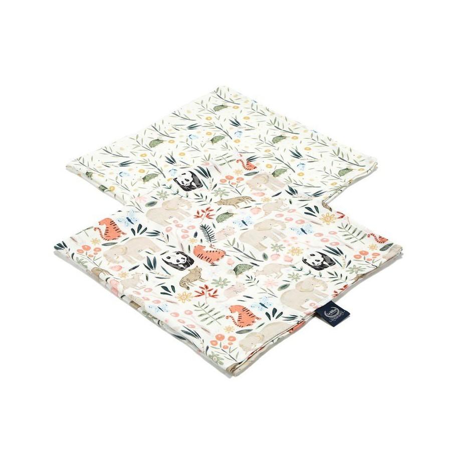 LA Millou 2 PACK diaper 100% BAMBOO® muslin Millou ZOO LA and