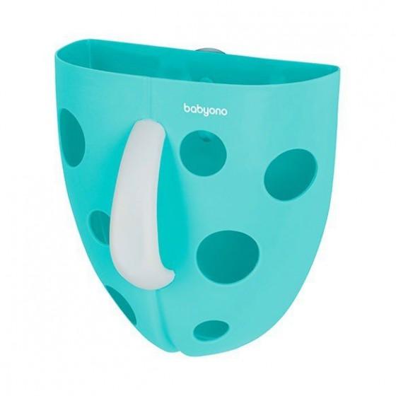 Babyono Pojemnik na zabawki kąpielowe - niebieski