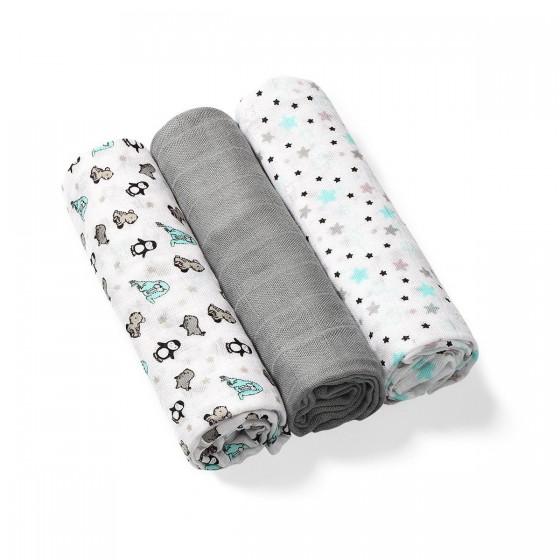 BabyOno natural bamboo fiber diaper organic. Grey