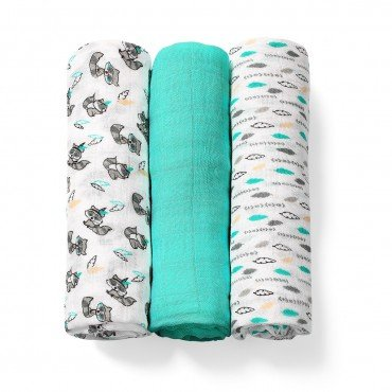 BabyOno natural bamboo fiber diaper organic. emerald