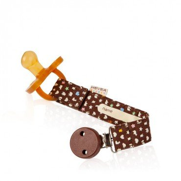 Pacifier HEVEA PENDANT BROWN