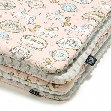 La Millou MEDIUM BLANKET - DREAM LUNAPARK - LIGHT GREY
