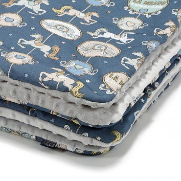 La Millou MEDIUM BLANKET - LUNAPARK BY NIGHT - LIGHT GREY