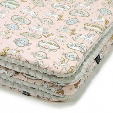 La Millou TODDLER BLANKET - DREAM LUNAPARK - LIGHT GREY