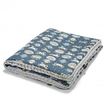 La Millou TODDLER BLANKET - LUNAPARK BY NIGHT - LIGHT GREY
