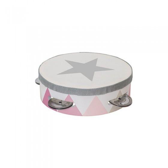 Jabadabado Wooden tambourine pastel pink