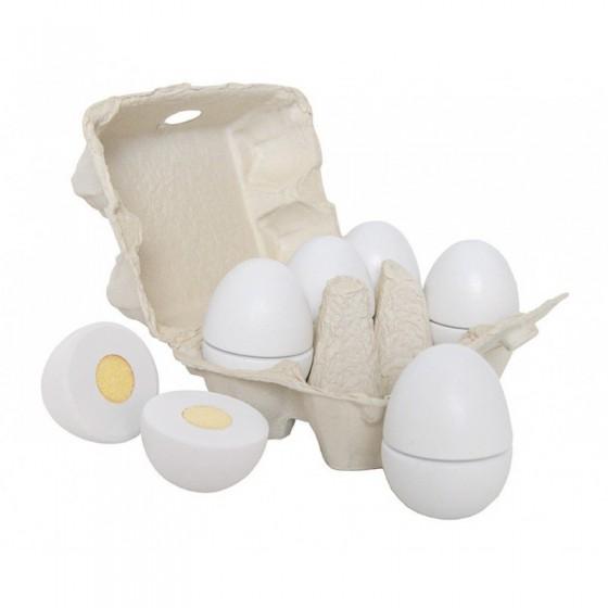 Jabadabado Drewniane ekologiczne jajka do krojenia