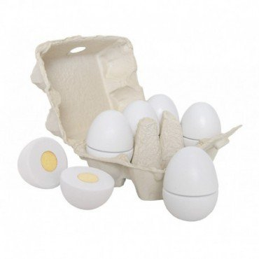 Jabadabado Wooden chopping organic eggs