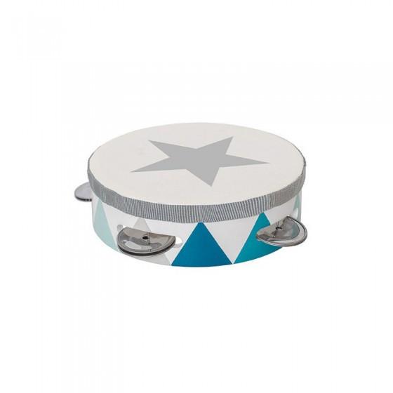 Jabadabado Wooden tambourine pastel blue
