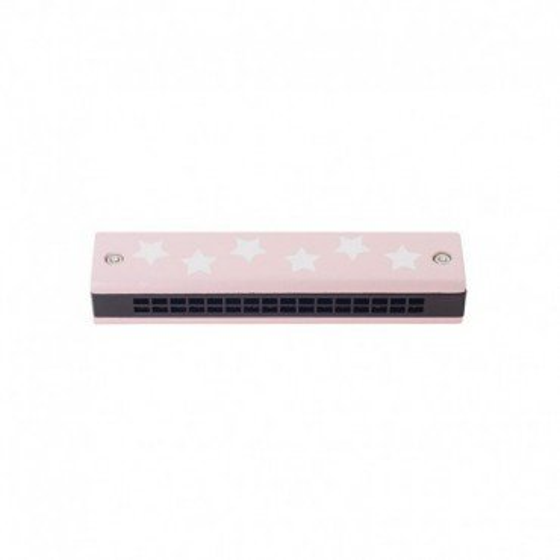 Jabadabado wooden harmonica pastel pink