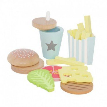 Jabadabado set of wooden hamburger,