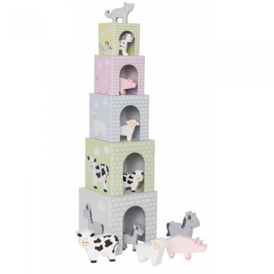Jabadabado pyramid tower farm with animals,