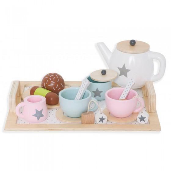 Jabadabado wooden tea service,