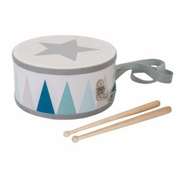 Jabadabado wooden drum pastel blue