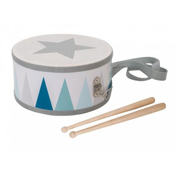 Jabadabado wooden drum pastel blue