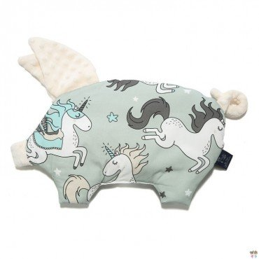 LA MILLOU BY MAJA BOHOSIEWICZ PODUSIA SLEEPY PIG UNICORN RAINBOW KNIGHT ECRU