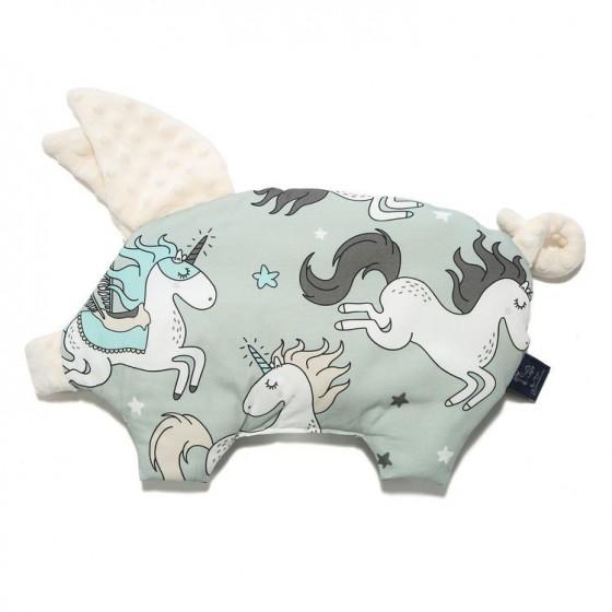 LA Millou BY MAY Bohosiewicz pillow SLEEPY PIG UNICORN RAINBOW KNIGHT ECRU