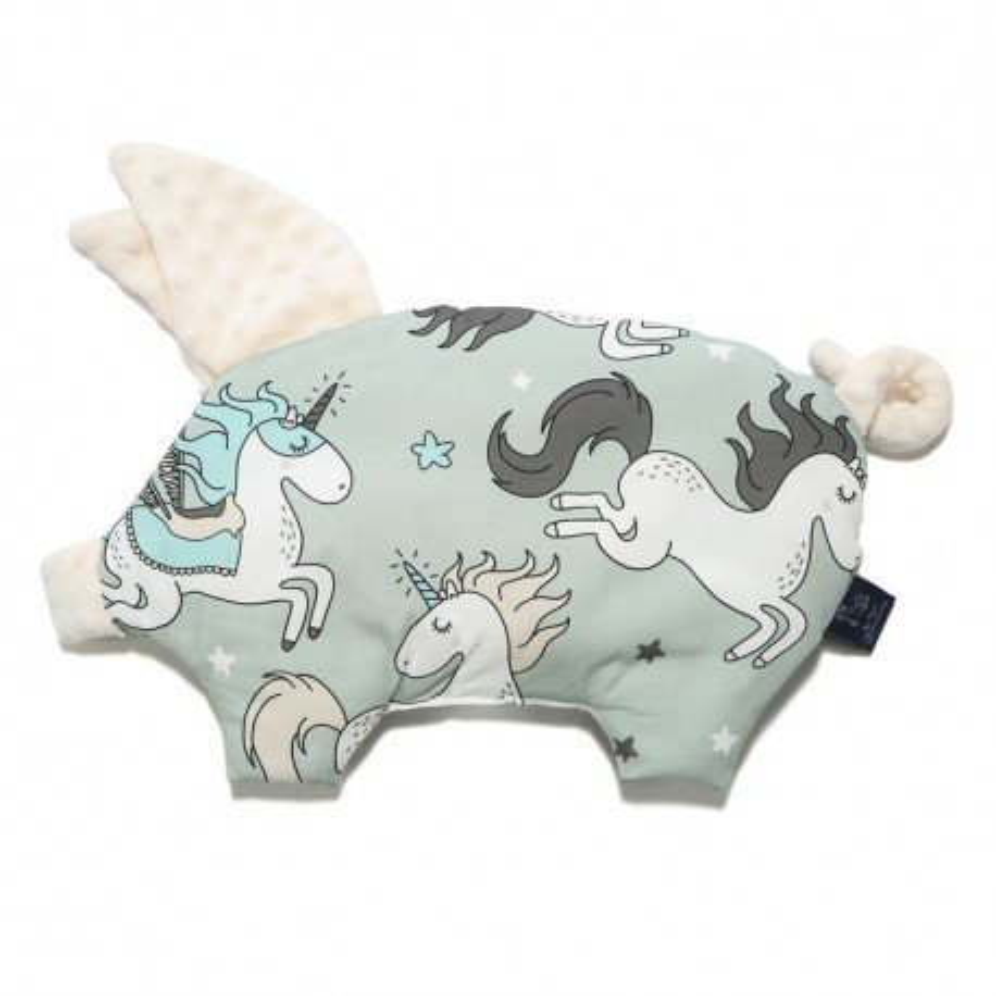 LA Millou BY MAY Bohosiewicz pillow SLEEPY PIG UNICORN RAINBOW