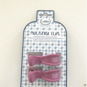 LA MILLOU 2 PACK MULTITASK CLIPS - MULBERRY