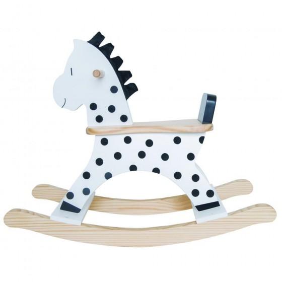 Jabadabado Drewniany koń na biegunach NIKO